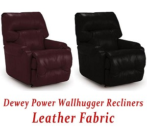 Dewey Power Wallhugger Recliner in Leather