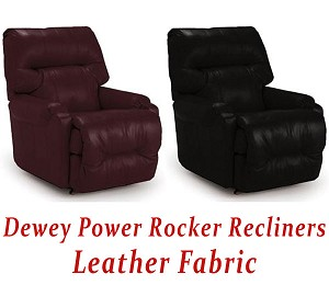 Dewey Power Rocker Recliner in Leather