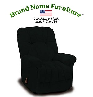 Black Recliner Chair Wallhugger