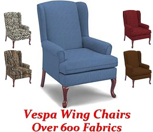 Vespa Queen Anne Wing Chair