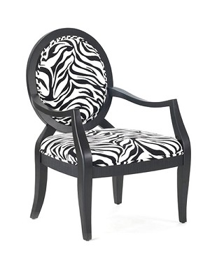 Lansing Transitional Hand-Carved Accent Chair with Oval Back