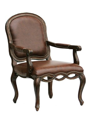 Oxford Bonded Leather Accent Chair