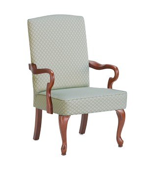 Derby Goose Neck Arm Accent Chair in Beige Color