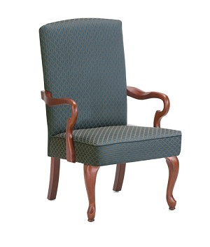 Derby Goose Neck Arm Accent Chair in Blue Color