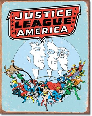 Justice League Retro Tin Sign