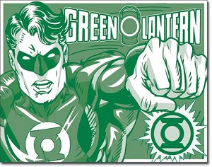 Green Lantern - Duotone Tin Sign