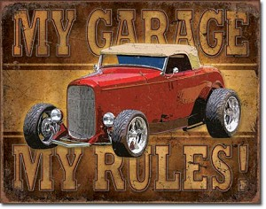 My Garage - ROD Tin Sign