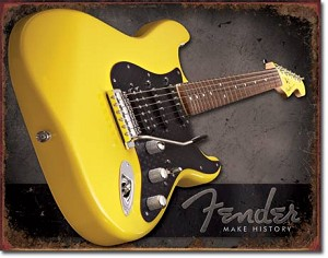 Fender - Make History Tin Sign