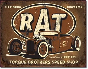 Torque - Rat Rod Tin Sign