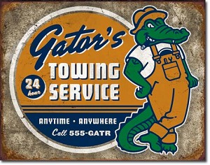 Torque - Gator's Towing Tin Sign
