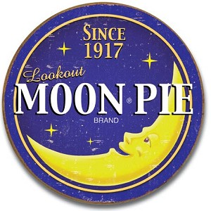 Moon Pie - Round Logo Tin Sign