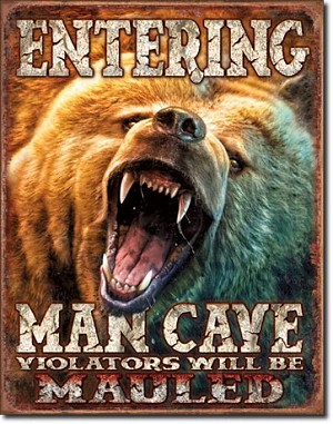 Man Cave - Grizzly Tin Sign