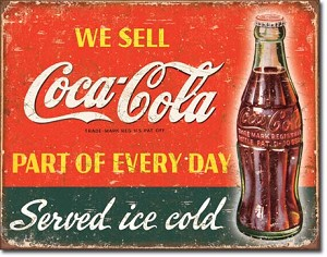 COKE - Part of Every Day Tin Sign