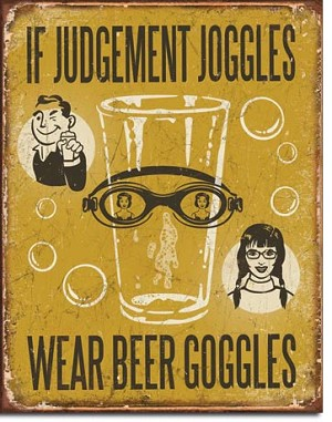If Judgement Joggles Tin Sign