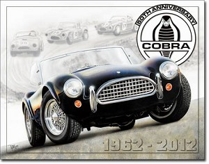 Shelby Cobra 50th Tin Sign
