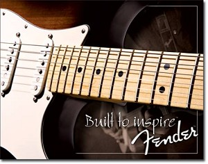 Fender Built to Inspire Tin Sign