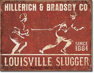 Louisville Slugger - Batter Up Tin Sign