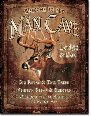 JQ - Man Cave Lodge Tin Sign