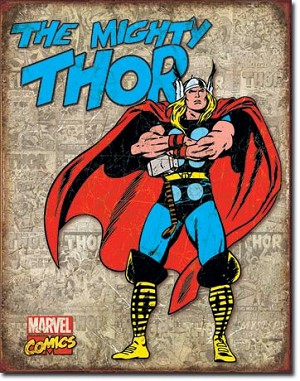 Thor Retro Cover Panels Tin Sign