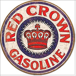 Red Crown Gas Tin Sign
