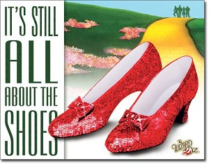 WOZ - About the Shoes Tin Sign