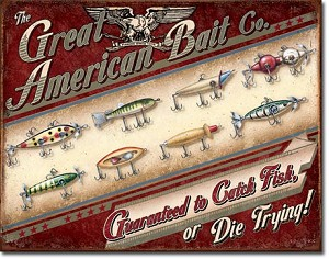 Great American Bait Co. Tin Sign