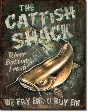 Catfish Shack Tin Sign