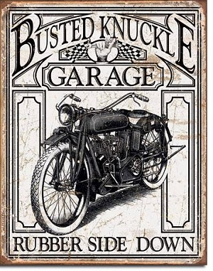 Busted Knuckle Vintage Tin Sign