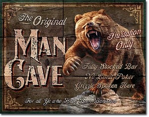 Man Cave - The Original Tin Sign