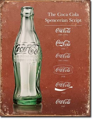 COKE - Script Heritage Tin Sign