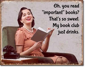 Book Club Tin Sign