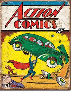 Action Comics No1 Cover Tin Sign