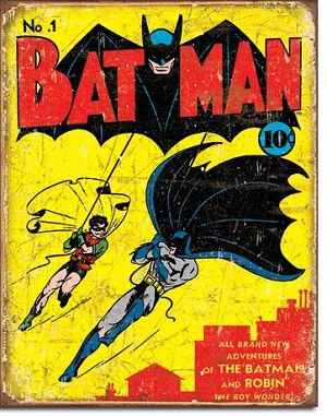 Batman No1 Cover Tin Sign