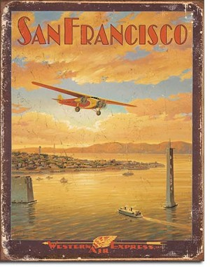 San Francisco - Western Air Tin Sign