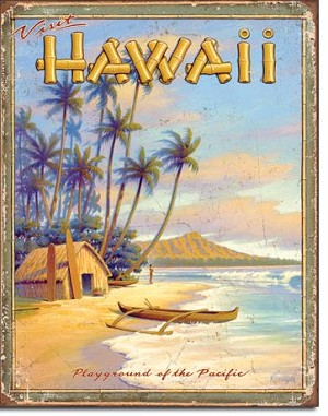 Hawaii - Playground Tin Sign