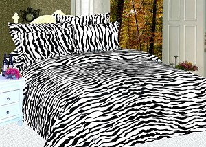 King Zebra Skin Print Sheet Set