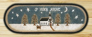 Oval Patch O Holy Night Braided Runner Earth Rug®