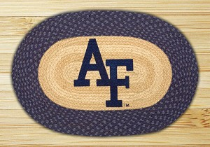 Oval Patch Air Force Falcons Collegiate Braided Earth Rug®