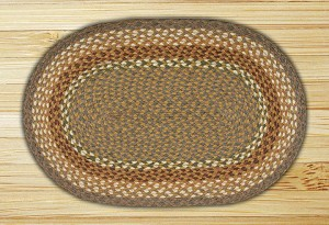 Oval Mustard and Ivory Braided Earth Rug®
