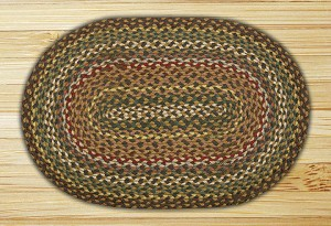 Oval Fir and Ivory Jute Braided Earth Rug®