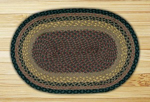 Oval Brown Black and Charcoal Jute Braided Earth Rug®