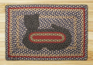 Cat Applique Jute Braided Earth Rug®