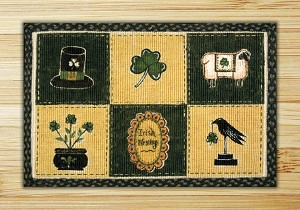 Wicker Weave Hand Print Irish Patch Jute Braided Earth Rug®
