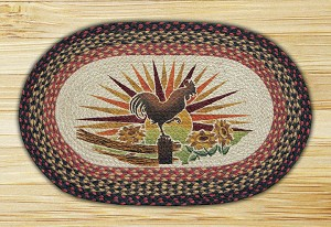 Oval Patch Rooster Braided Earth Rug®