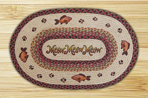 Oval Patch Meow Meow Braided Earth Rug®