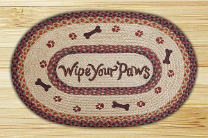 Oval Patch Wipe Your Paws Braided Earth Rug®