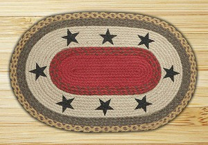 Oval Patch Stars Braided Earth Rug®