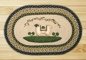 Oval Patch Sheep Shamrock Braided Earth Rug®