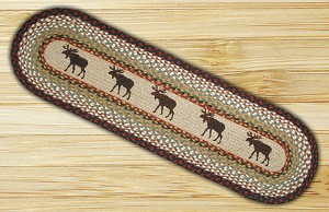 Oval Patch Moose Braided Runner Earth Rug®