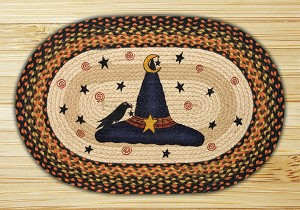 Oval Patch Witch Hat Braided Earth Rug®